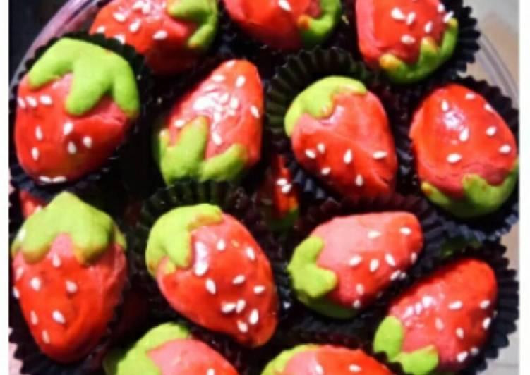 Nastar bentuk strowberry - cookandrecipe.com