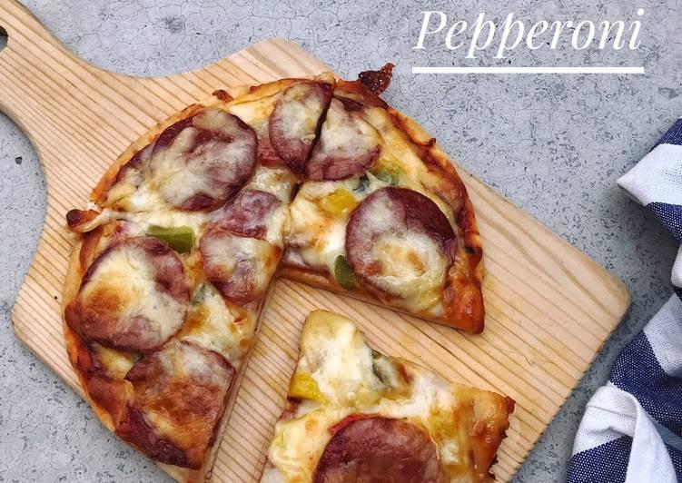 Resepi:  Pizza Pepperoni  Sempena PKP