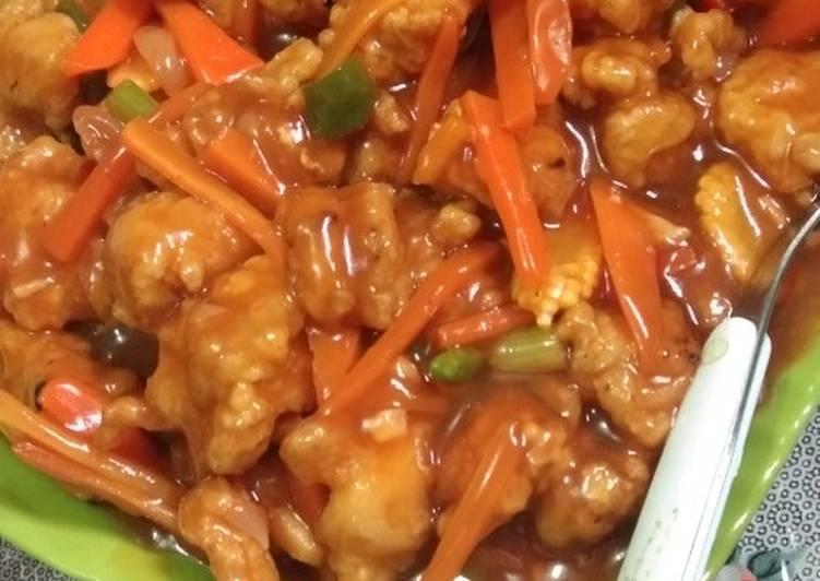 Resep Koloke Ayam Goreng Tepung Saos Oleh Dr Widya Mama Rafa Cookpad