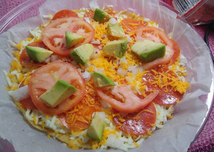 Low carb, keto chiken crust pizza