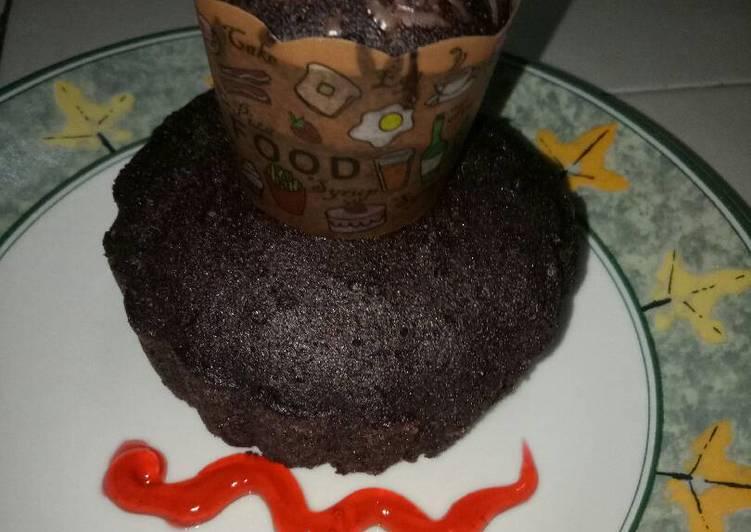 Brownis kukus ketan hitam