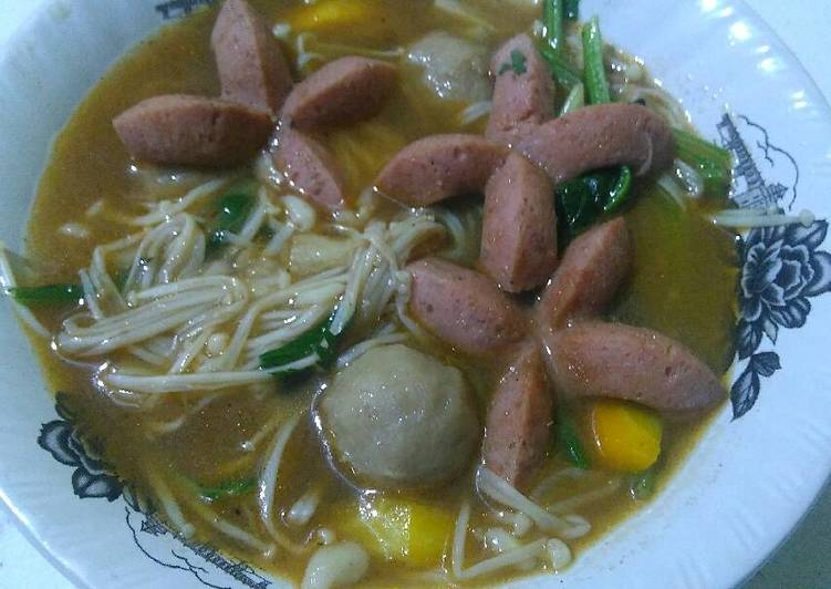 Sup jamur enoki sosis #BikinRamadhanBerkesan #menusahur