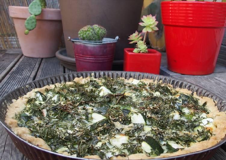 Tarte aux courgettes et fanes de carottes