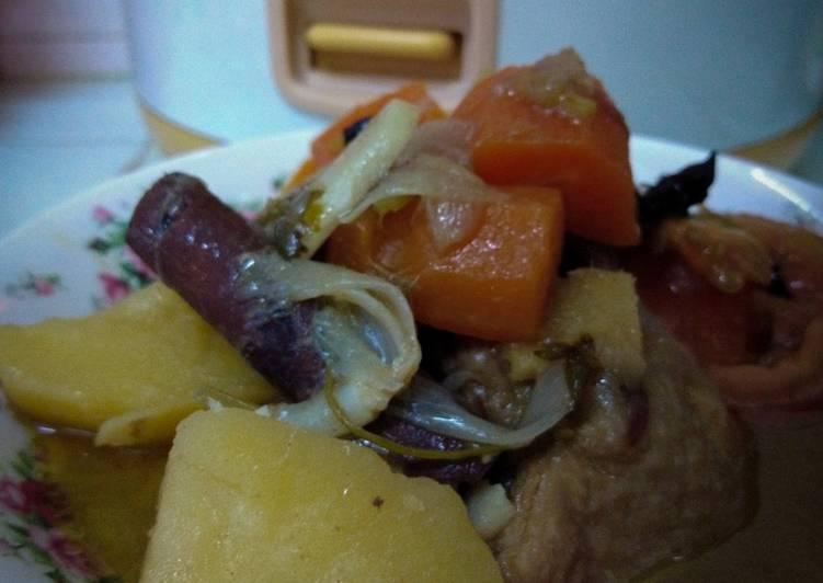 Sup Ayam Berempah Rice Cooker