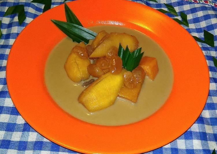 Kolak pisang, ubi dan kolang Kaling ala dapur ku