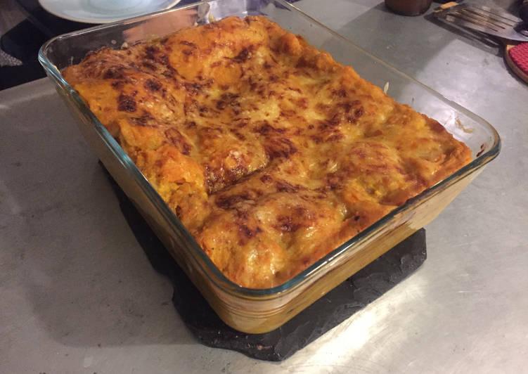 Recette Délicieux Lasagnes courge champignons (végé)