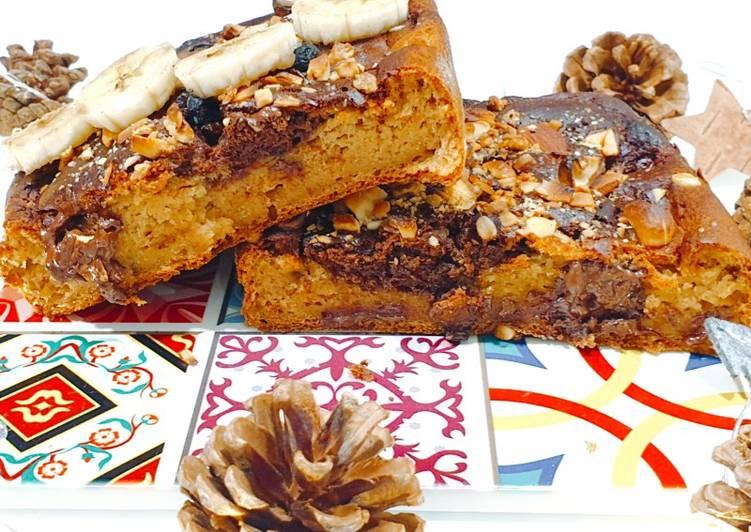 Banana bread de chocolat healty