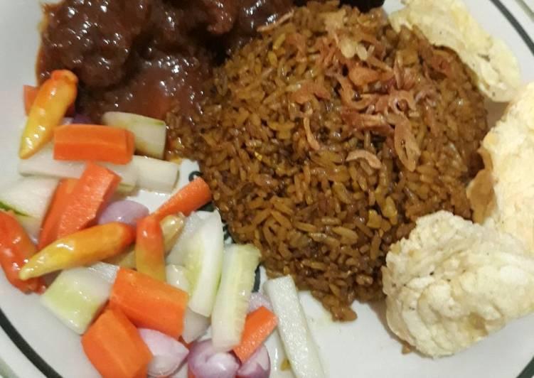 Nasi goreng kambing simple enak