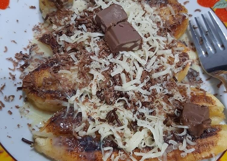 Pisang bakar teflon keju-coklat silverqueen
