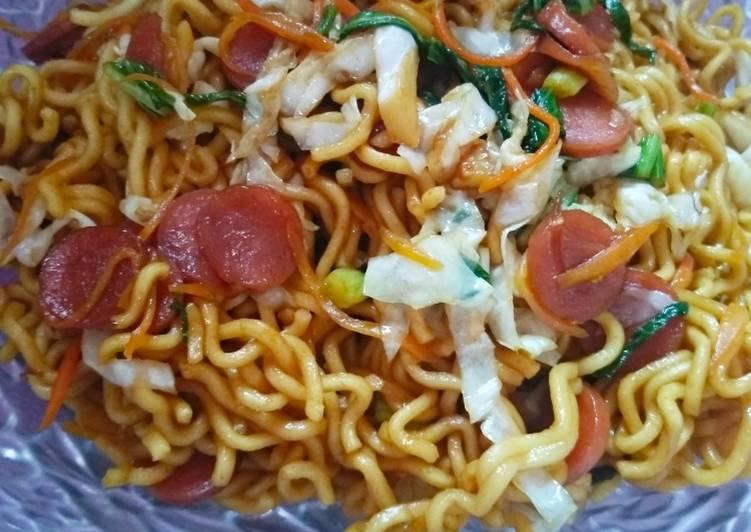 Resep Mie goreng sosis simpel Paling Gampang