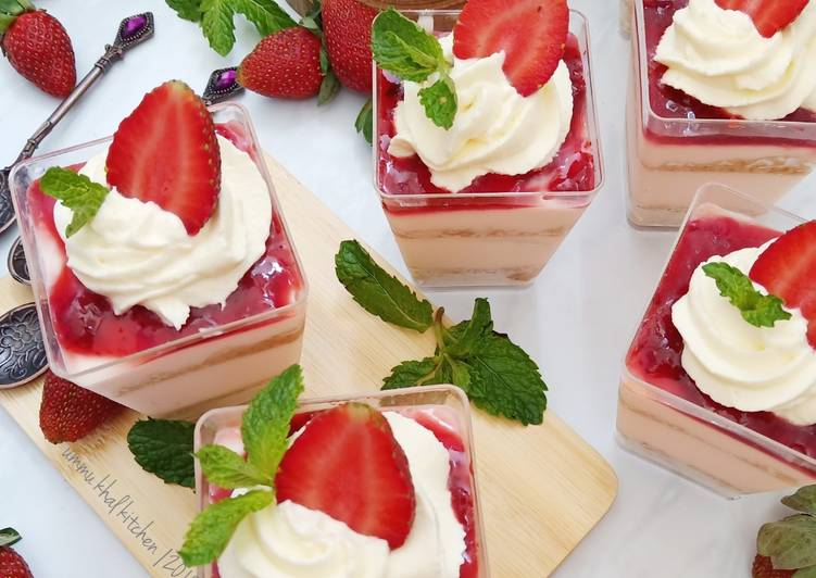Strawberry Cream Cheese Pudding