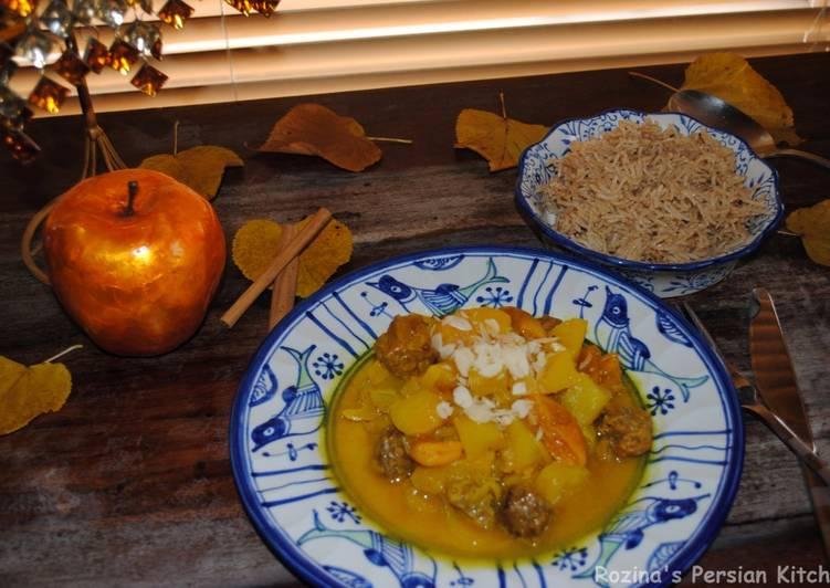 Apple-apricot lamb stew
