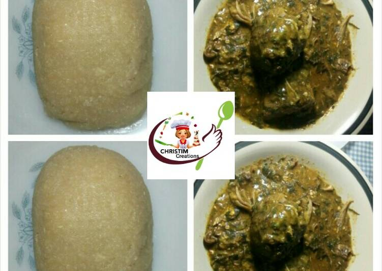 10 Minute Step-by-Step Guide to Prepare Autumn Eba with vegetable ogbono soup