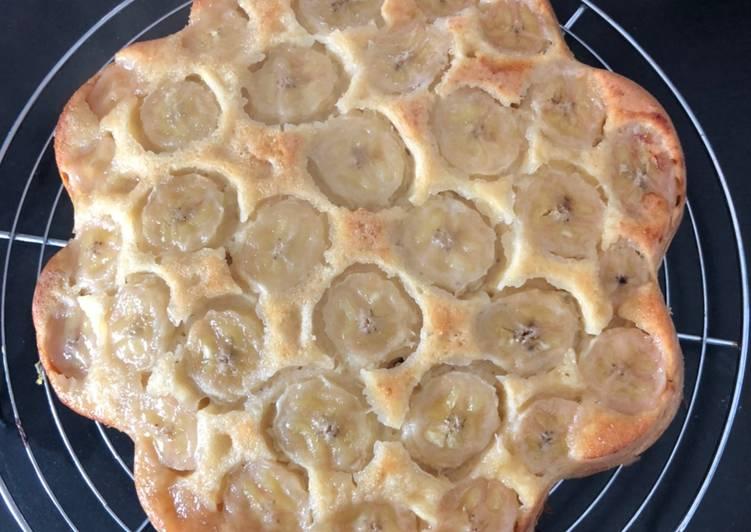 recette Gâteau renversé banane sirop d'érable délicieux
