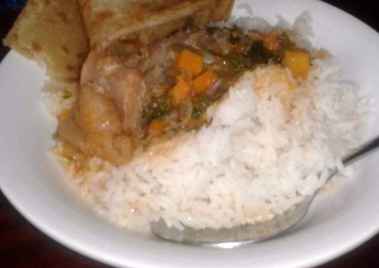 Rice beef with chapati