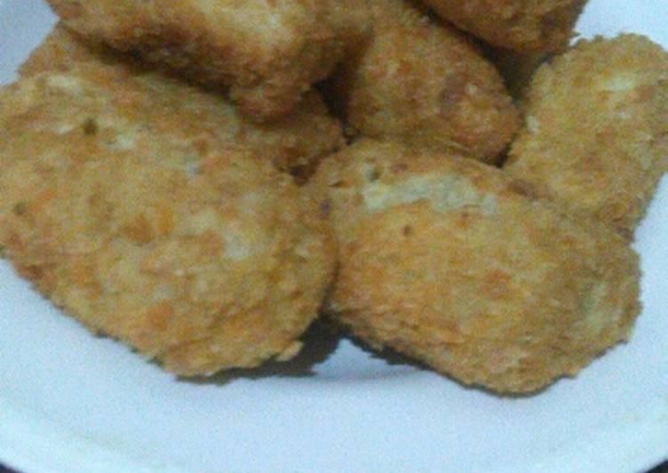 Tahu balur tepung panir (nuget tanpa kukus)