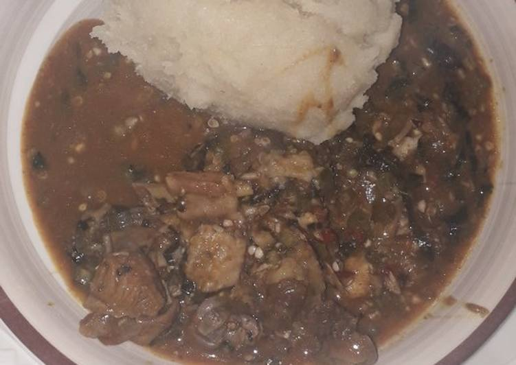 Step-by-Step Guide to Make Perfect Local cuka with dawa soup and Semovita