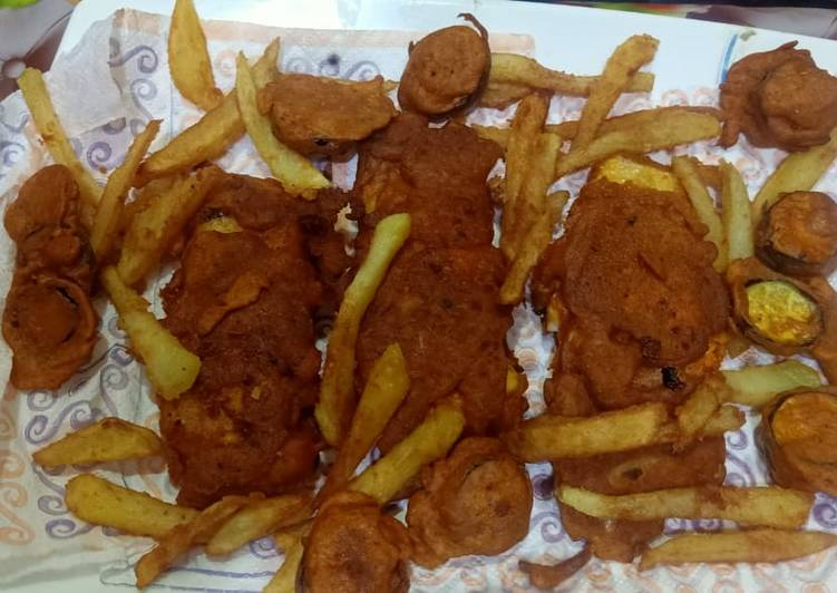 Crispy fish pakora