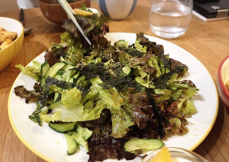 How to Make Ultimate Korean-style Salad with Seaweed