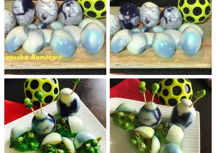 Simple Way to Prepare Award-winning Halloween Spooky Devilled Dino Eggs & Creepy Baby Yoda Eggs
