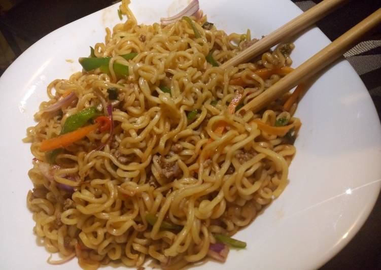 Recipe of Super Quick Homemade Beef stock noodles