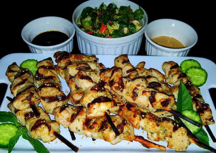 Step-by-Step Guide to Prepare Ultimate Mike's Chicken Yakatori & Chilled Asian Ginger Slaw