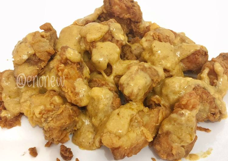 Crispy Chicken with Salted Egg