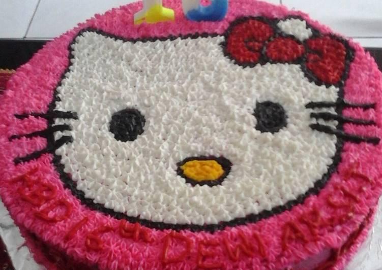 Resep Kue Ultah Hello Kitty Cantik Oleh Dewi Arsi Tri Cookpad