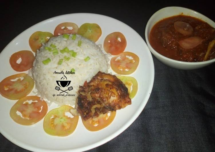 Foods That Make You Happy White rice and stew