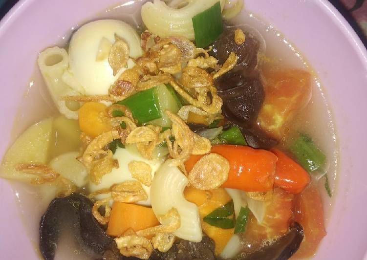 33.sup makaroni dan telor puyuh
