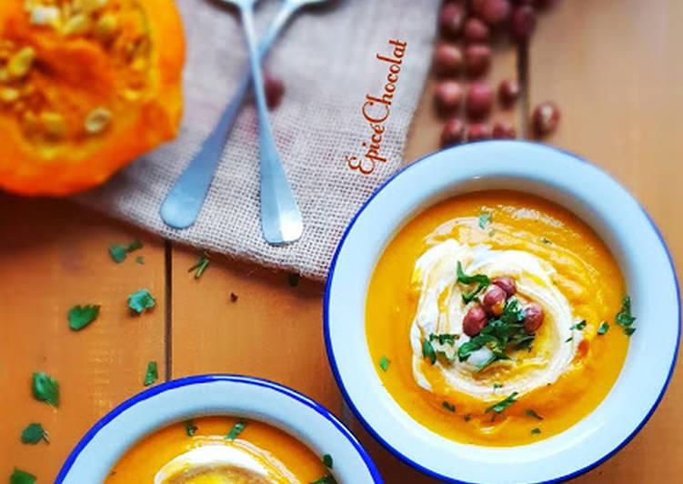 Soupe potimarron carotte et butternut au curry