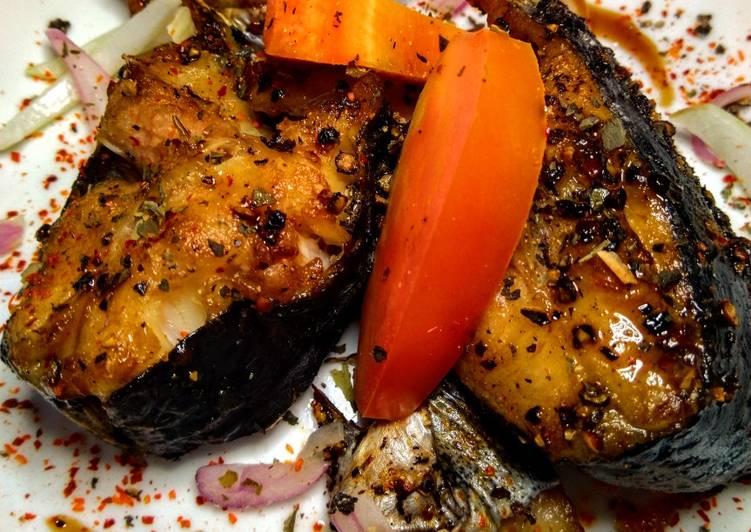 Patin Panggang Saus Tiram Sambal Bombay Pedas Tanpa Minyak