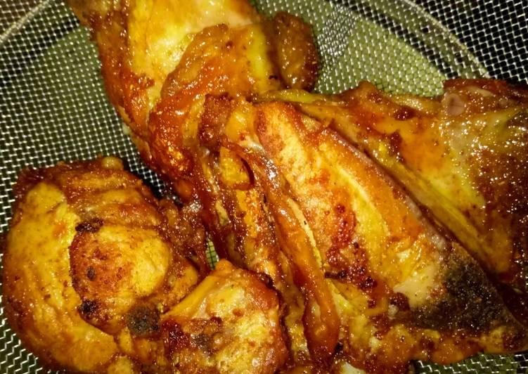 Ayam goreng(tanpa bumbu racik instan)