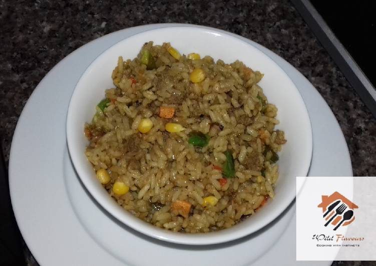 Minced meat fried rice