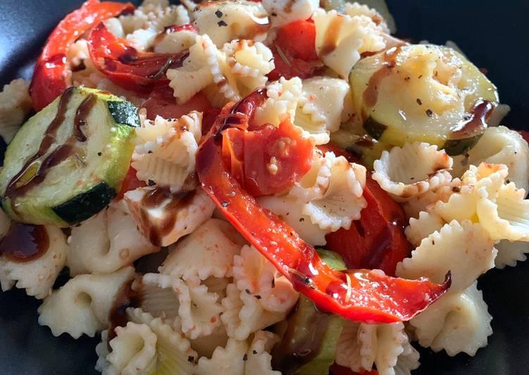 Comment Préparer Des Pâtes aux légumes grillés et feta