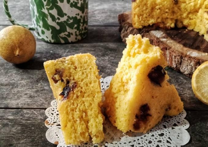 Bluder Lemon Kurma Cake Panggang Panci