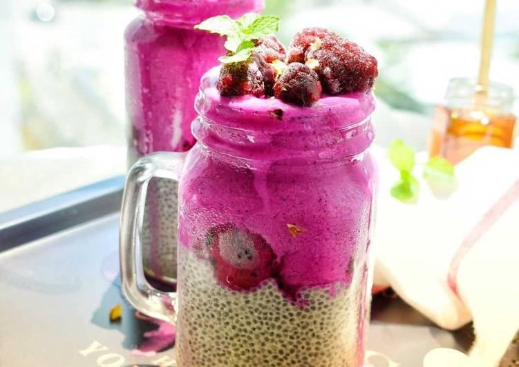 Dragon Fruit Chia Seed Pudding - velavinkabakery.com