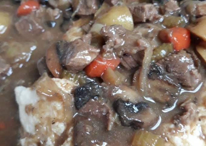 Beef Kidney Stew over Mash
