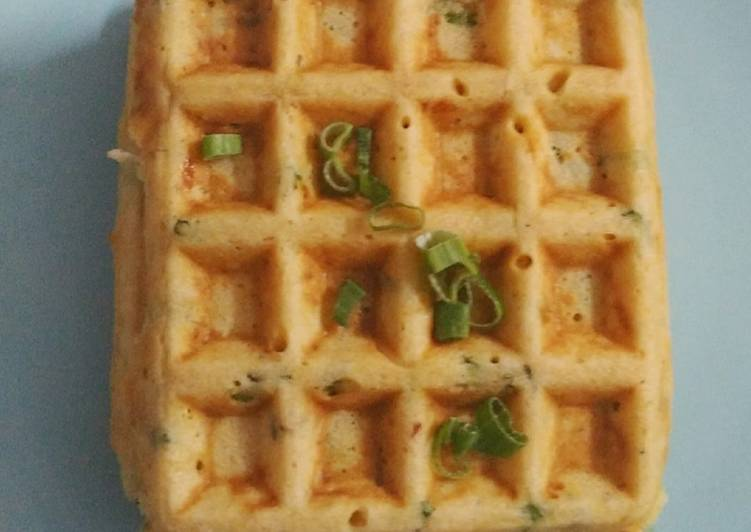 Recipe of Quick Chicken corn and cheese waffle