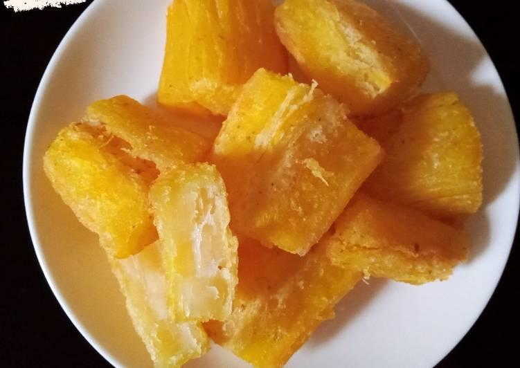 Singkong goreng merekah (stok cemilan)