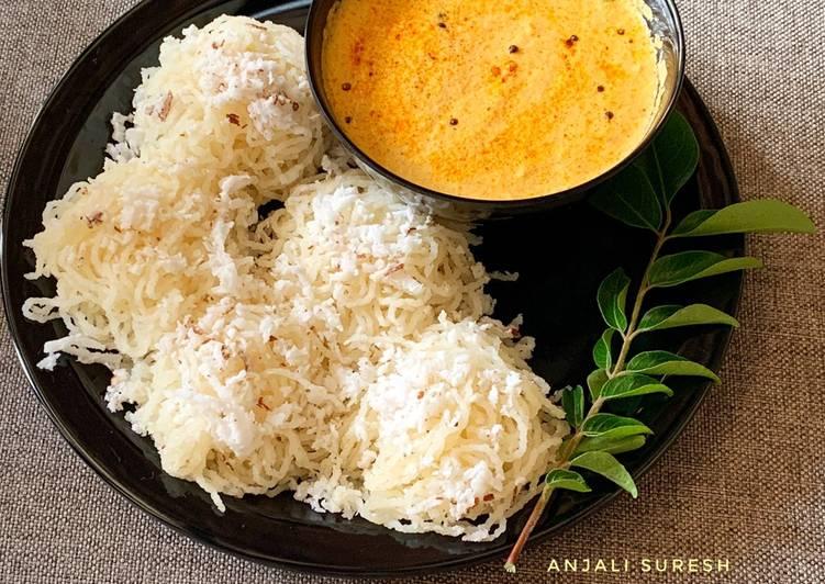 Step-by-Step Guide to Prepare Homemade Suji Idiyappam with coconut chutney
