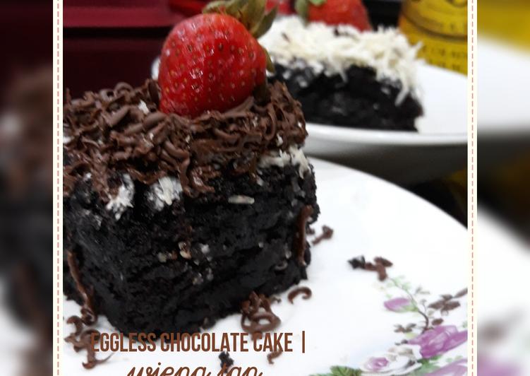 Eggless Chocolate Cake (no mixer)