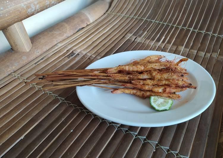 Sate Odheng / Sapet udang khas Madura