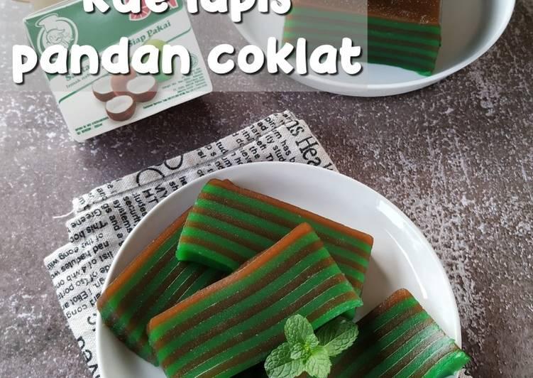 Resep Membuat Kue Lapis Tapioka (Lapis Pandan Coklat) Gampang Banget