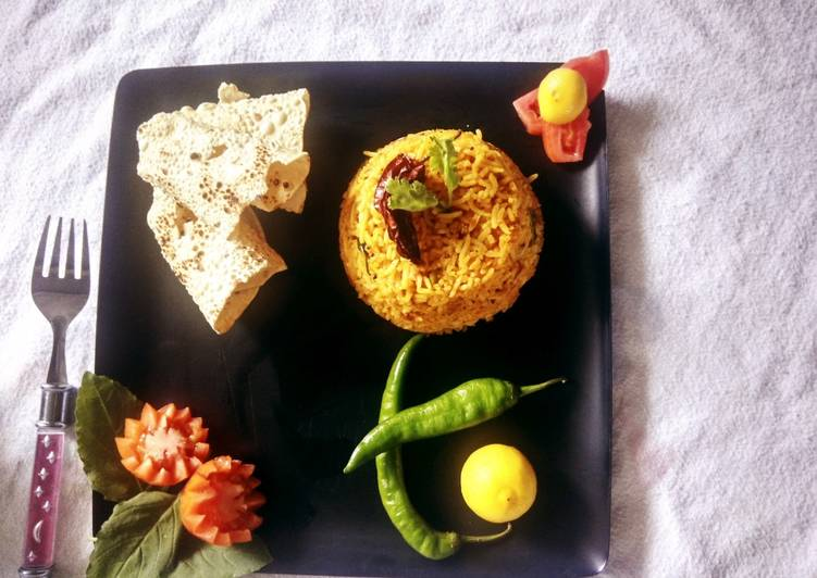 Recipe of Quick Tangy Tomato pulav best recipe for leftover rice