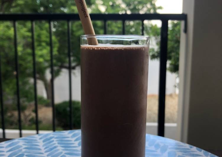 Steps to Prepare Favorite Chocolate and Peanut Butter Smoothie