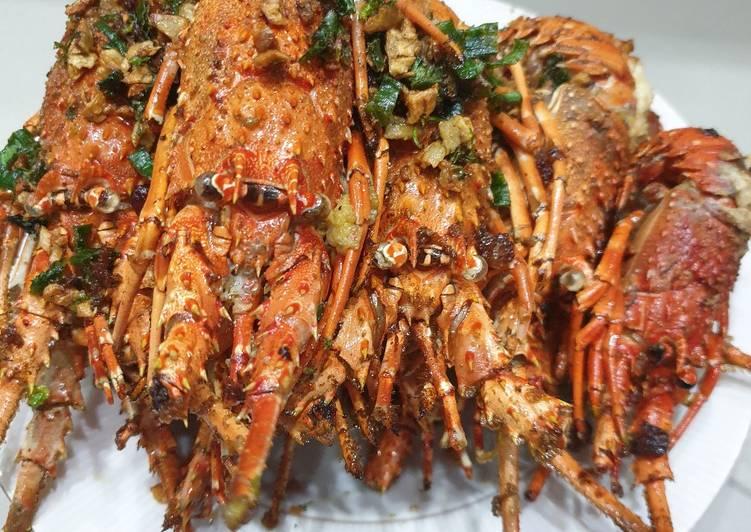 Cara Mudah Menyajikan Lobster goreng bawang Istimewa