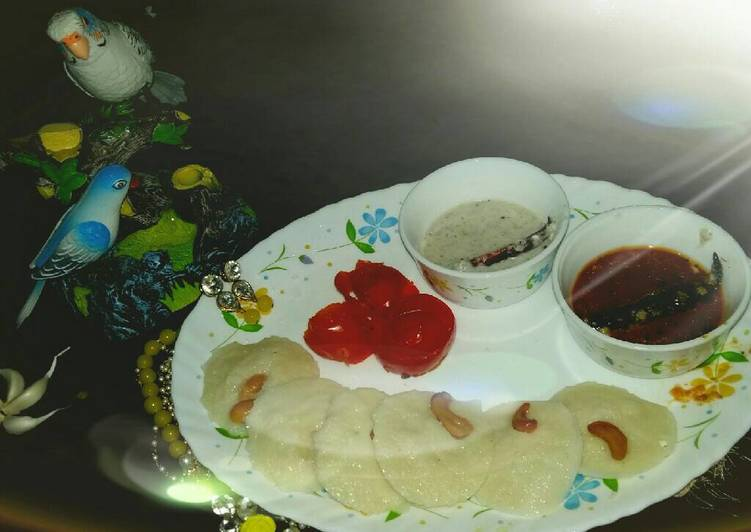 #bandhan rava idli sambar coconut chutni Finding Healthful Fast Food