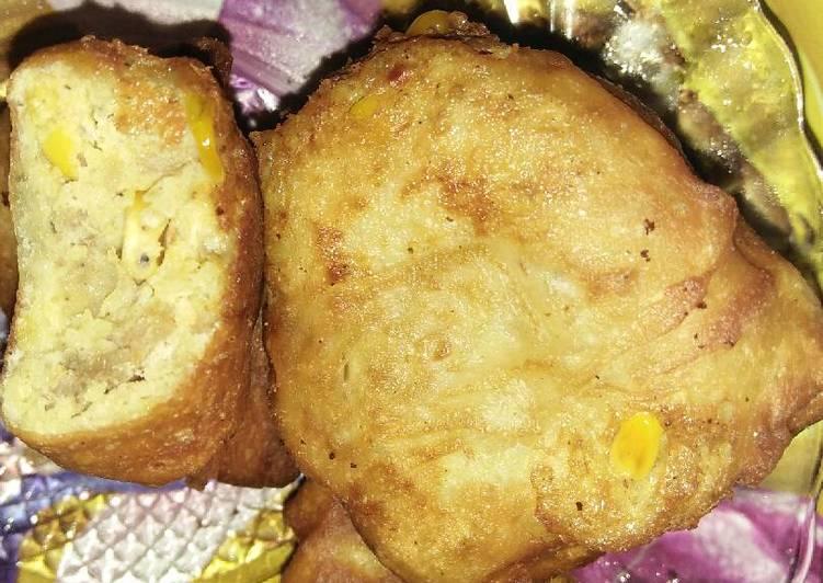 Martabak kentang jagung dengan kari daging