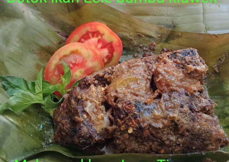 Botok ikan Lele bumbu kluwek khas Jawa Timuran